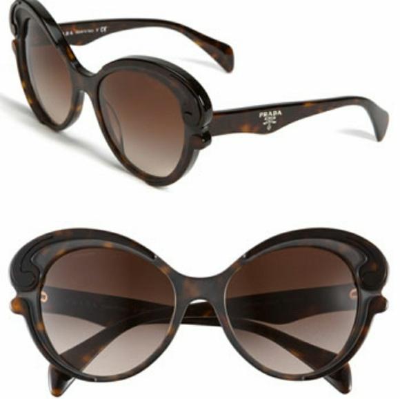 3c55681f2cd Prada Baroque Cateye Tortoise Sunglasses. M 5a690d212ae12f81d53a7253